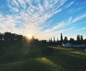 landscape, morning, and sky image