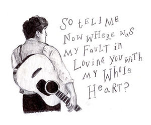 quote, mumford and sons, and heart image
