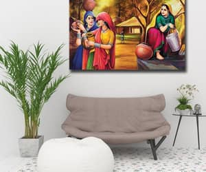 women, canvas wall art, and canvas art image