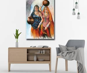 village, canvas wall art, and canvas art image