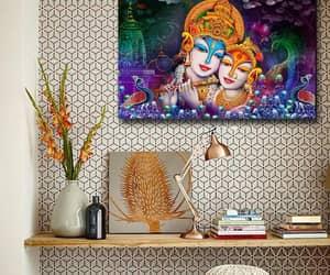canvas wall art, canvas art, and radha krishna image