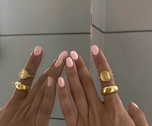 beauty, girl, and pink nails image