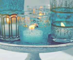 blue, aesthetic, and candles image