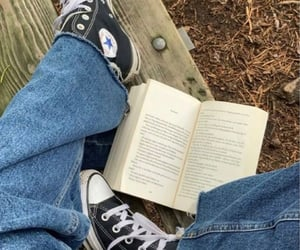 book, converse, and jeans image