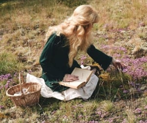 book, nature, and girl image