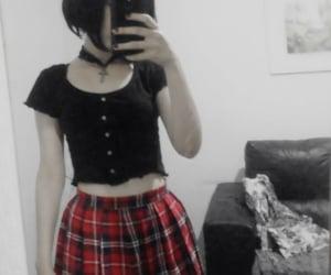 matilda, pale, and plaid skirt image