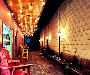 alley, lights, and fairytale image