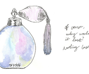 drawing, perfume, and quotes image