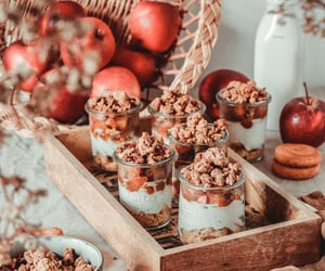 apple, crumbles, and autumn image