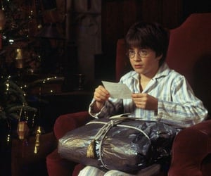 harry potter, christmas, and book image