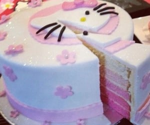 cake, kitty, and hello image