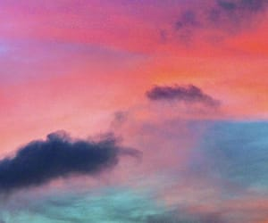 clouds, sunset, and landscape image