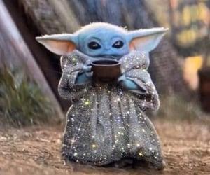 glitter and baby yoda image