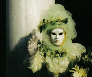green, mask, and masque image