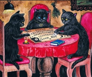 black cat, Witches, and demons image