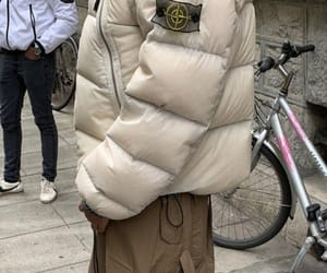 clothes, stone island, and fit image