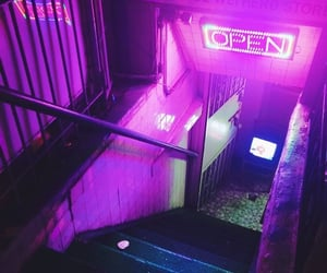 city, grunge, and neon image