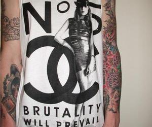 tattoo, chanel, and fashion image