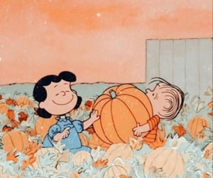 autumn, cartoon, and pumpkin image
