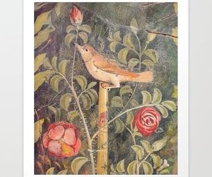 nightingale, roses, and historic art image