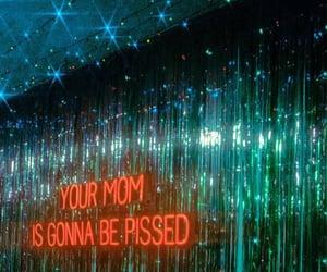 deco, neon lights, and mom image