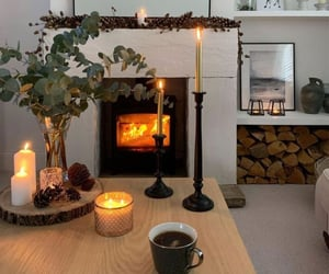 fireplace, home, and candles image