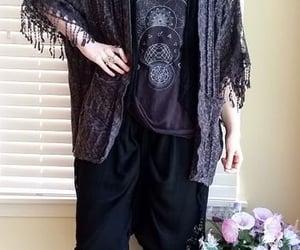 black, goth, and pagan image