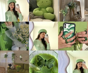 aesthetic, green, and Collage image