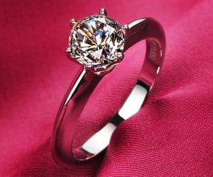 bling, diamond, and wedding image
