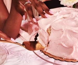 cake, nails, and soft black girls image