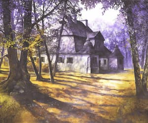 manor house, painting, and Poland image