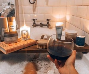 aesthetics, bath, and candles image