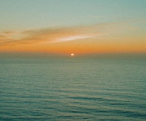 sunset, sea, and travel image