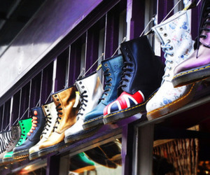 shoes, doc martens, and boots image