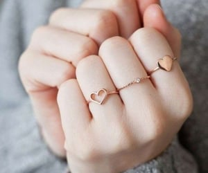 accessories, heart, and rings image