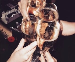 celebration, champagne, and cheers image