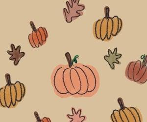 autumn, pumpkins, and wallpaper image