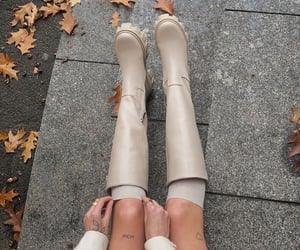 fashion, autumn, and boots image