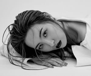 asian, black and white, and dazed image