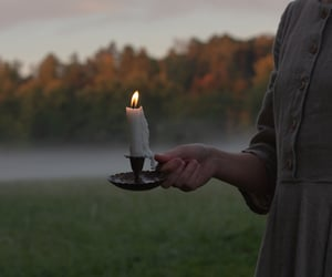 candle, fog, and mist image