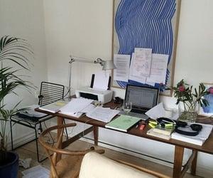 desk, motivation, and interior image