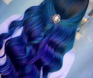 aesthetic, beauty, and blue hair image
