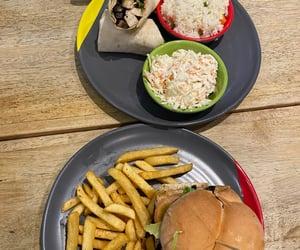 burger, mushroom, and rice image
