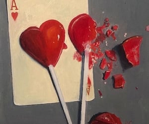 as, heart, and lollypop image