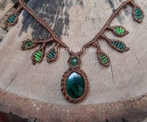 handmade, necklaces, and macramè image