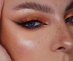 makeup, orange, and autumn image