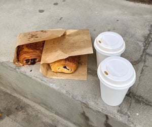 pastry, aesthetic, and coffee image