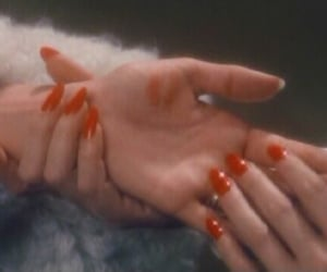 red, hands, and nails image