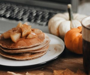 pancakes, autumn, and breakfast image