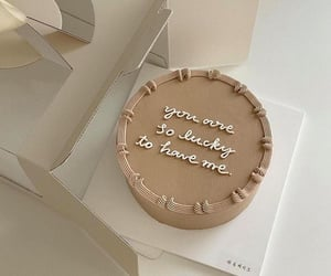 aesthetic, beige, and cake image
